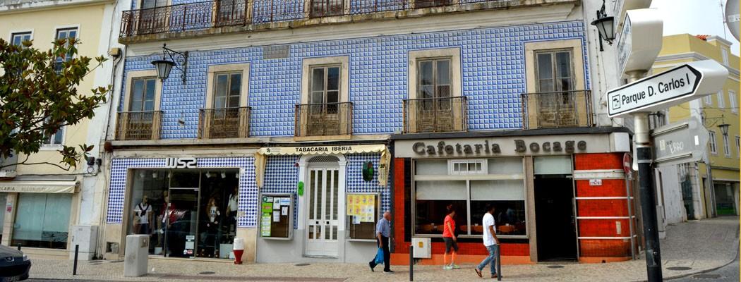 bocage coffee facade in Caldas da Rainha