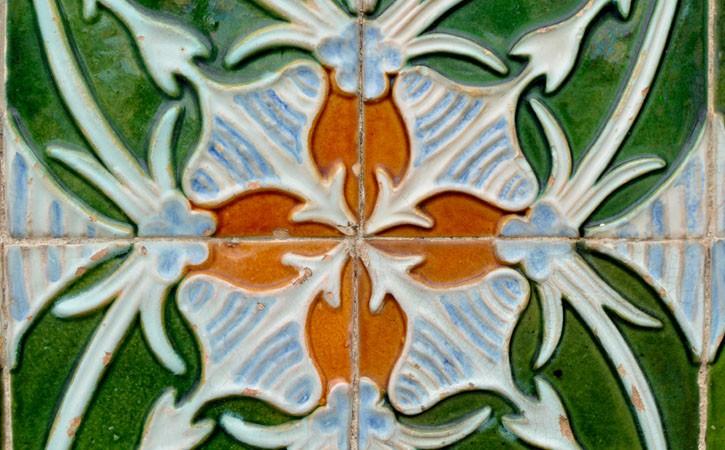 Cerâmica nas Caldas da Rainha, azulejo de fachada exterior, Caldas da Rainha