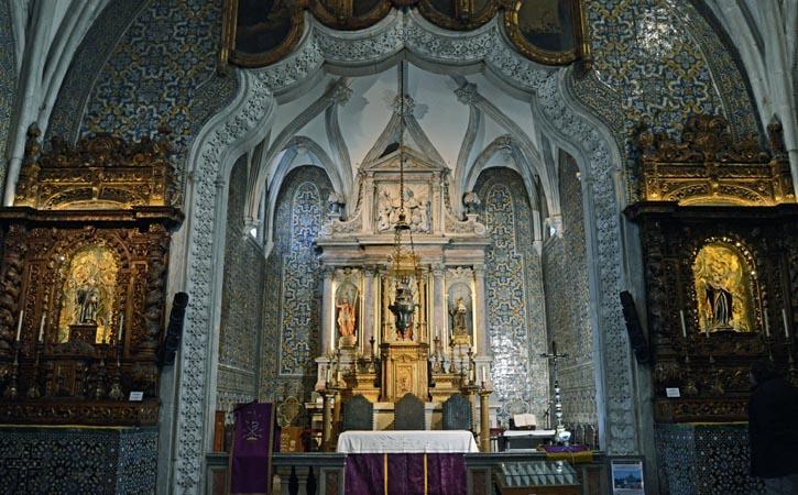 Igreja Nossa Senhora do Pópulo, altar, Caldas da Rainha