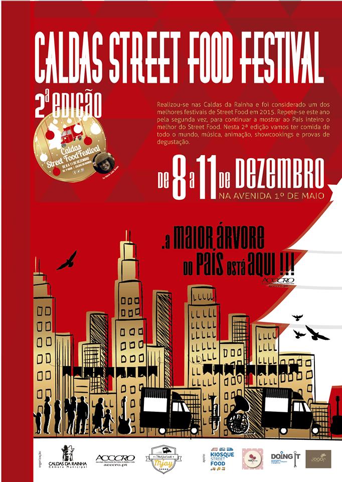 Dezembro - Caldas Street Food Festival Cartaz Caldas da Rainha Avenida 1 de Maio Gocaldas