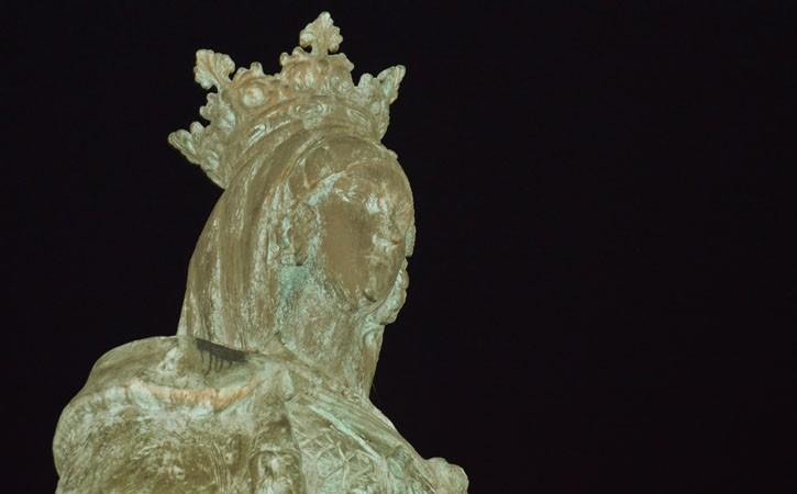 A Rainha Dona Leonor a Fundadora, em Caldas da Rainha