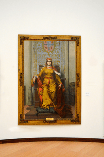 Queen Dona Leonor painting at José Malhoa Museum at Cakdas da Rainha