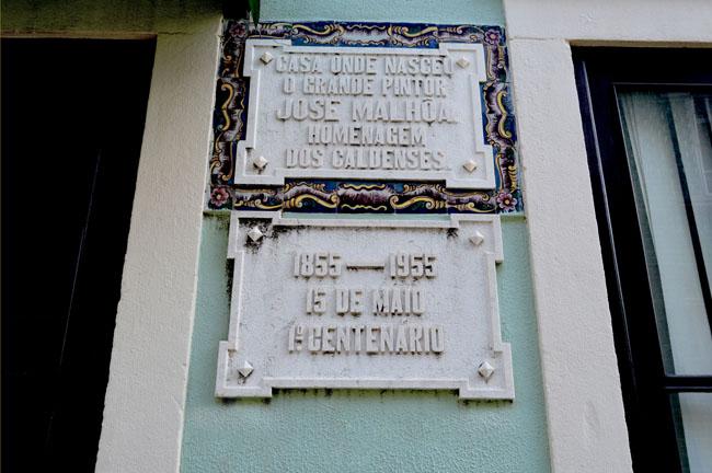 The house where José Malhoa the Painter was born