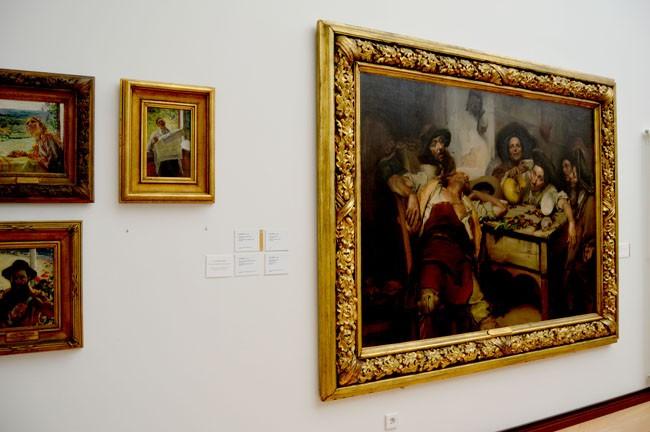 Museu José Malhoa quadro Os Bêbados