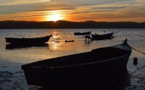 Anoitecer na Lagoa de Óbidos