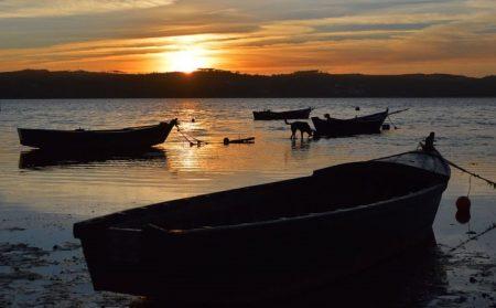 Lagoa de Óbidos ao anoitecer