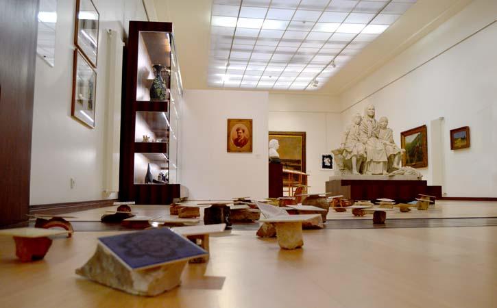 Lion´s group room in Caldas da Rainha José Malhoa Museum