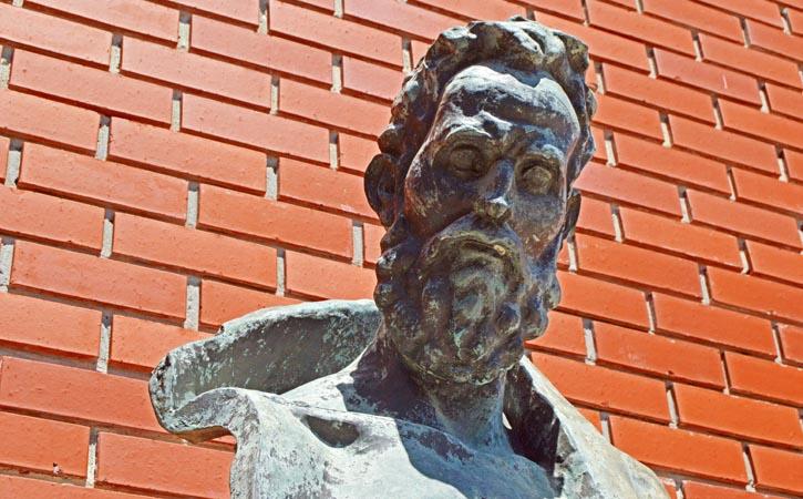 Posto de Turismo das Caldas, Museu Barata Feyo, Caldas da Rainha, Centro de Artes, busto Barata Feyo, Gocaldas, o teu Guia Turístico Local