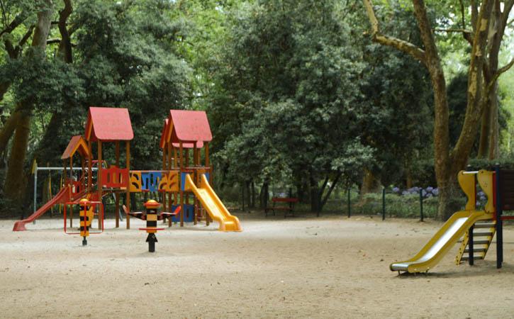 Para os Mais Pequenos nas Caldas da Rainha - Parque D. Carlos I, jardim infantil