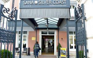 Entrada do Hotel Sana Silver Coast em Caldas da Rainha