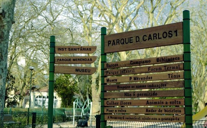 O D. Carlos I das Caldas, Parque D. Carlos I, Caldas da Rainha