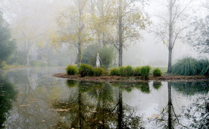 O D. Carlos I das Caldas, lago do Parque D. Carlos I, Caldas da Rainha