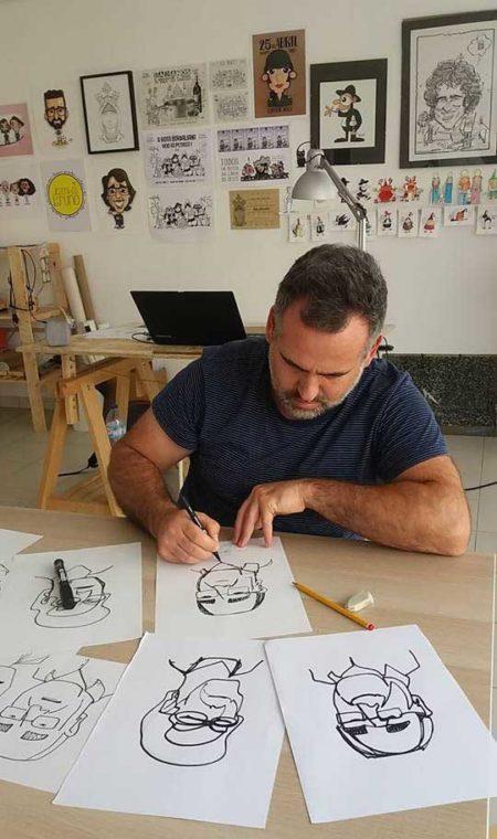 Cartoon com Bruno Prates em Caldas da Rainha