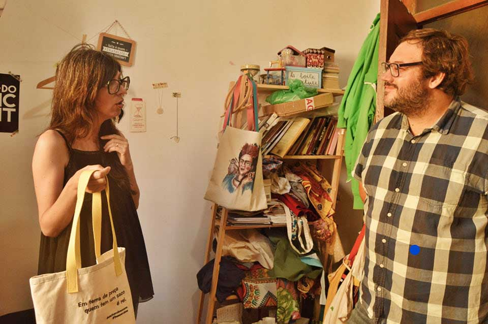 Zélia Évora em Caldas da Rainha com a GoCaldas no seu atelier