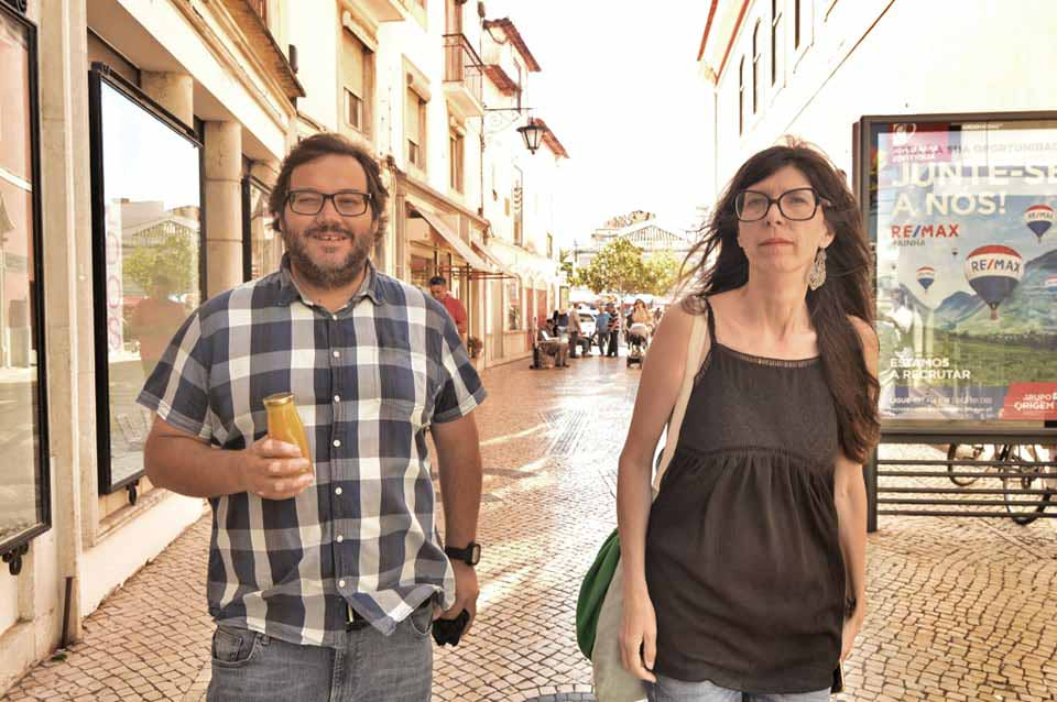 Zélia Évora em Caldas da Rainha com a GoCaldas na Rua das Montras