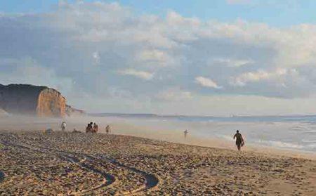 Areal da praia Foz do Arelho