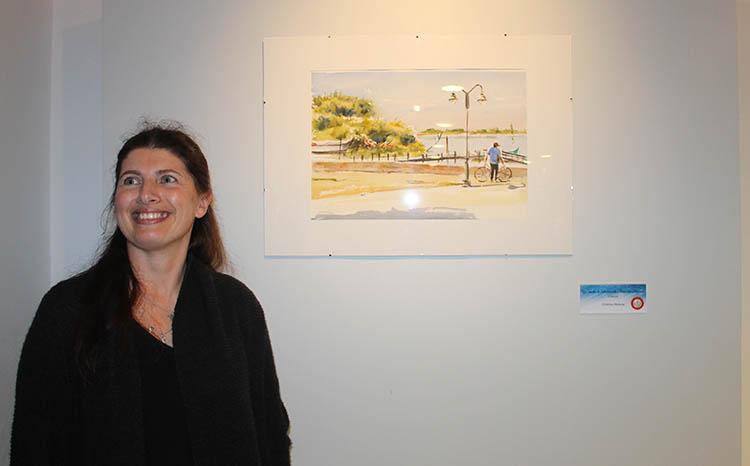 A LEVEZA DA AGUARELA, de Cristina Mateus exposição no CCC, GoCaldas Caldas da Rainha o Guia Turístico da Cidade